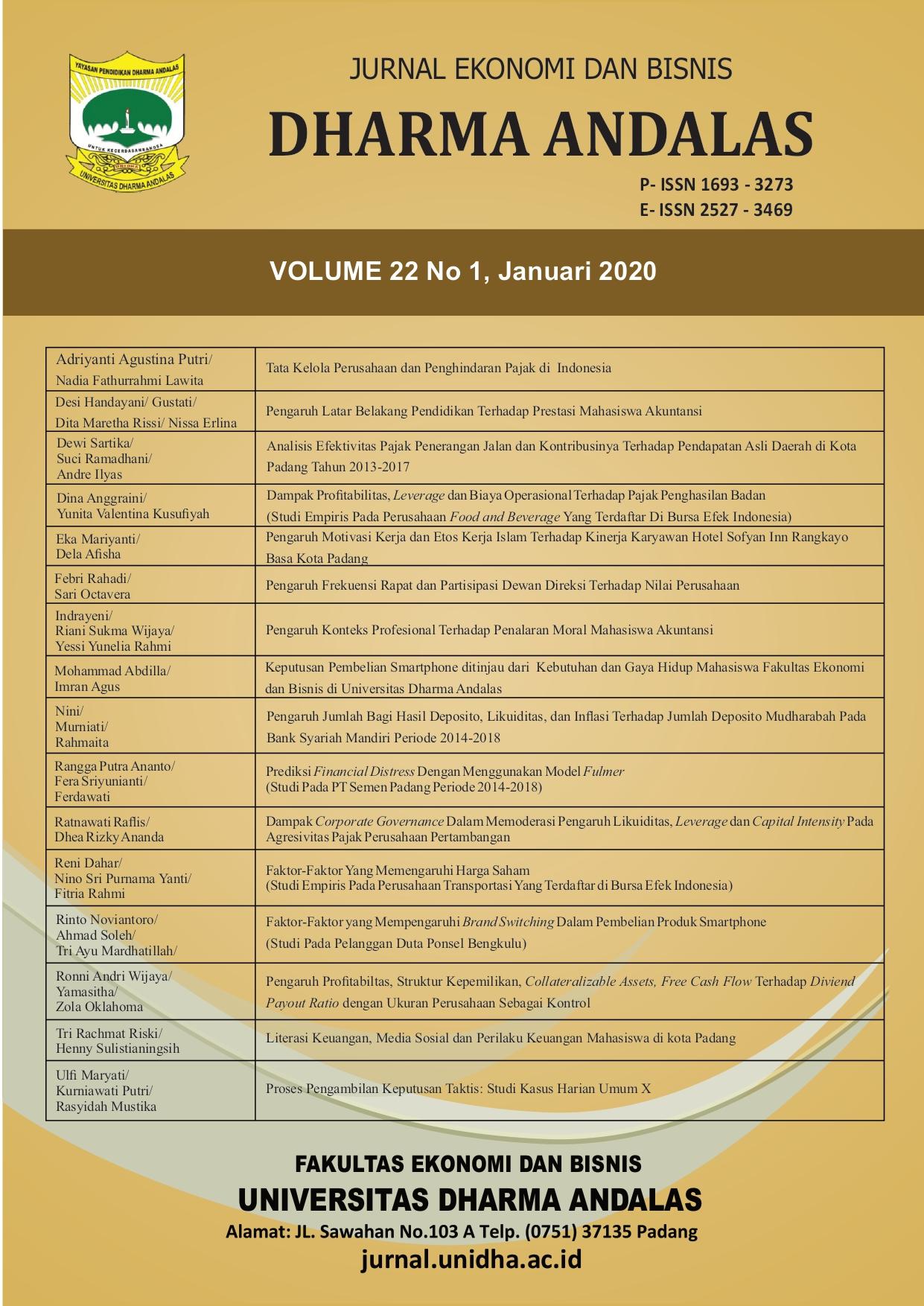 Literasi Keuangan Media Sosial Dan Perilaku Keuangan Mahasiswa Dikota Padang Jurnal Ekonomi Dan Bisnis Dharma Andalas