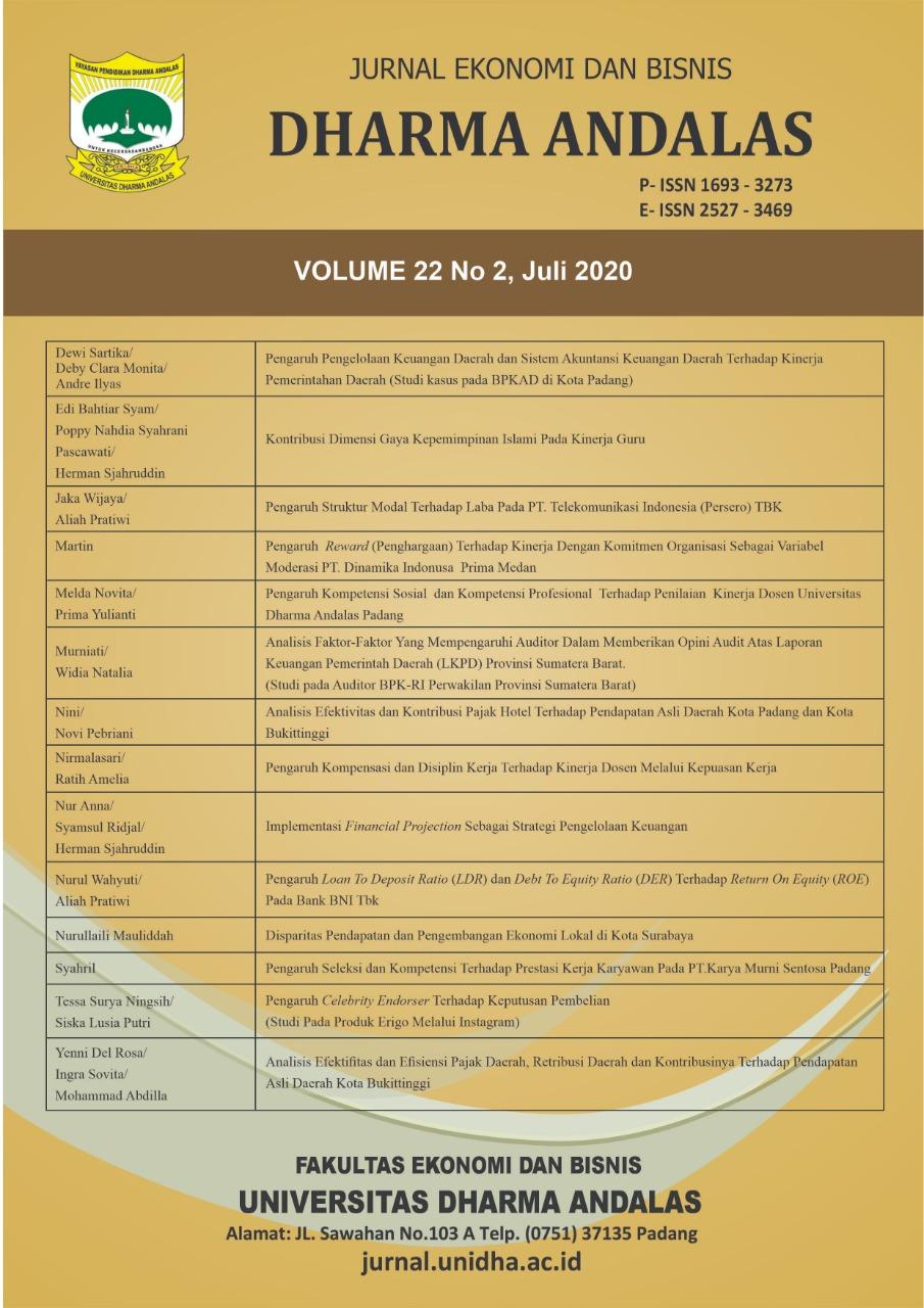 Analisis Faktor Faktor Yang Mempengaruhi Auditor Dalam Memberikan Opini Audit Atas Laporan Keuangan Pemerintah Daerah Lkpd Provinsi Sumatera Barat Jurnal Ekonomi Dan Bisnis Dharma Andalas